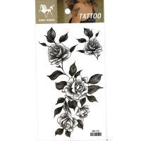 HM1155 New arrive fashion five black rose flower temporary tattoo sticker