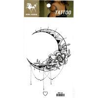 HM1161 Lady's new fashion moon flower temporary body art tattoo sticker