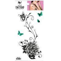 HM1202 wolesales waterproof flower butterfly tattoo sticker