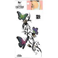 HM1205 Beautiful sexy body art tattoo flower butterfly tattoo sticker
