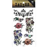 HM154 rose flower butterfly ladies temporary tattoo sticker