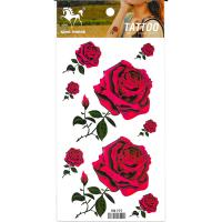 HM159 Mini and big red rose flower temporary tattoo sticker for girl