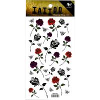 HM160 Mini rose flower butterfly temporary tattoo sticker