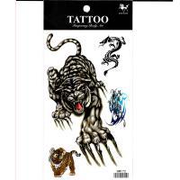 HM172 waterproof tiger temporary tattoo sticker for men