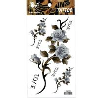 HM191 big and small three flower Body Art Waterproof Temporary Sexy thigh tattoos rose For Woman Flash Tattoo Stickers