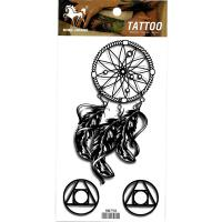 HM798 Black color dream catcher girls arm leg tattoo stickers