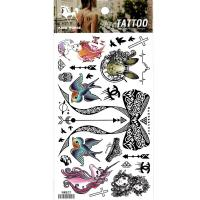 HM821 Cartoon Tattoo stickers black big bow unicorn beauty butterfly mini waterproof tattoo stickers