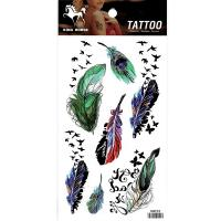 HM902 Seven size feather swallow tail tattoo stickers