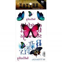 HM904 Six beautiful color butterfly body art tattoo sticker