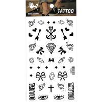 HM916 Arrow heart shaped bow eye diamond mini pattern tattoo sticker