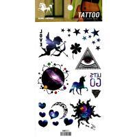 HM921 Boy angel mini five star earth sun mon horse temporary tattoo sticker