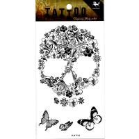 HM934 black Abstract flowers butterfly girls temporary tattoo sticker