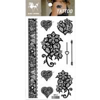 HM942 Flash fake tattoo sticker ladies lace black tattoo sticker