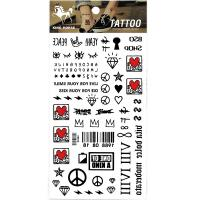 HM948 Girl and boys finger temporary tattoo sticker