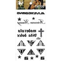 HM951 Waterproof temporary black body art tattoo sticker