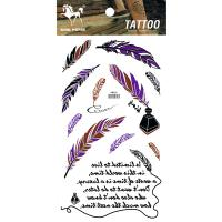 HM960 New fashion plume(feather) and english text body art tattoo sticker