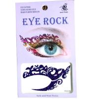 HSA016 left and right eye temporary tattoo sticker