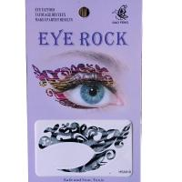 HSA018 left and right eye temporary tattoo sticker