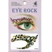 HSA025 left and right eye temporary tattoo sticker