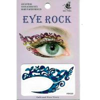 HSA026 left and right eye temporary tattoo sticker