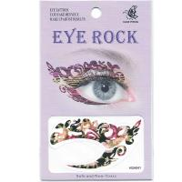 HSA041 flower design temporary tattoo sticker for eye