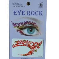 HSA042 shine flower design eye tattoo sticker for girl