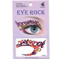 HSA043 left and right temporary eye tattoo sticker