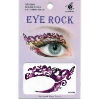 HSA044 purple color temporary eye tattoo left and right eye in 1piece for ladys