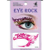 HSA056 waterproof bight pink waterprint temporary eye tattoo sticker