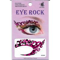 HSA059 deep pink leopard print temporary eye tattoo sticker