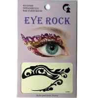 HSA061 Black color temporary eye tattoo sticker