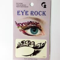 HSA062 Black color temporary eye tattoo sticker
