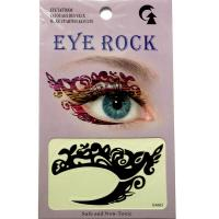 HSA063 Black color temporary eye tattoo sticker