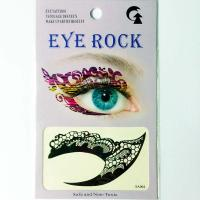 HSA064 Black color lace pattern temporary eye tattoo sticker