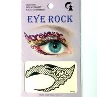 HSA065 Black stocking net pattern temporary eye tattoo sticker