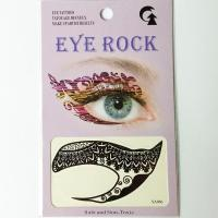 HSA066 Black special flower pattern temporary eye tattoo sticker