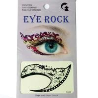 HSA068 waterproof black flower temporary eye tattoo sticker