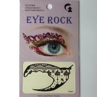 HSA069 Waterproof watertransfer print black color temporary eye tattoo sticker