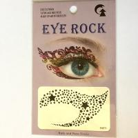 HSA071 Mini five-star black temporary eye tattoo sticker