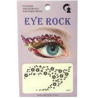 HSA072 2019 new fashion black flower temporary eye tattoo sticker