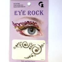 HSA075 Specical design left and right black temporary eye tattoo sticker