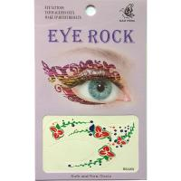 HSA078 Color flower double eyes temporary eye tattoo sticker