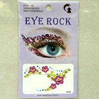 HSA079 color new fashion flower double eye temporary tattoo sticker