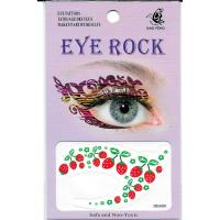 HSA081 left and right color Strawberry temporary eye tattoo sticker