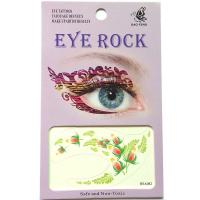HSA082 leaf flower left and right temporary eye tattoo sticker