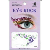HSA083 green leaf purple flower temporary eye tatttoo sticker