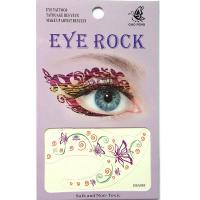HSA085 Purple butterfly Blue circle temporary eye tatttoo sticker