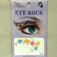 HSA088 Pink yellow blue flower temporary eye tatttoo sticker