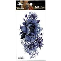 RF119 Beautiful sexy waterproof body art tattoo peony flower tattoo sticker