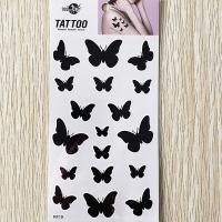 RF19 waterproof temporary black butterfly tattoo sticker fake tattoo